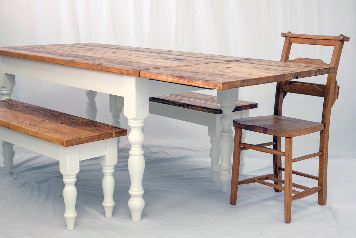 Extending Farmhouse Table The Edinburgh Table Company