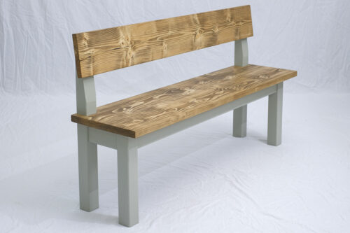 Linglie Bench with Back