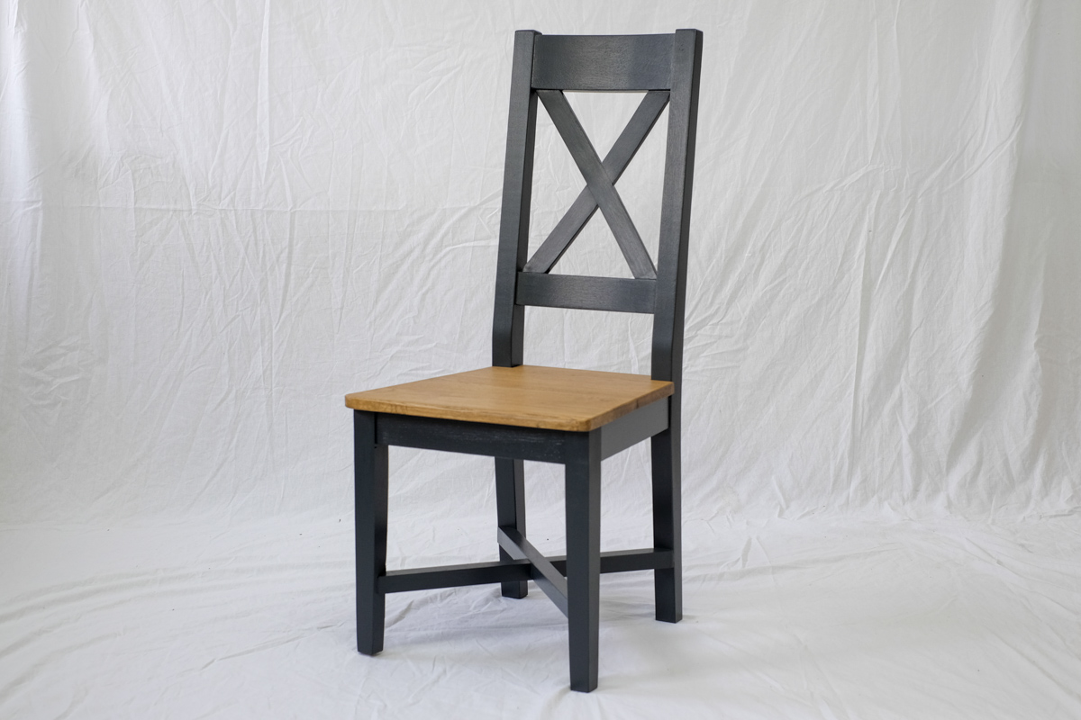 Cross Back chair painted