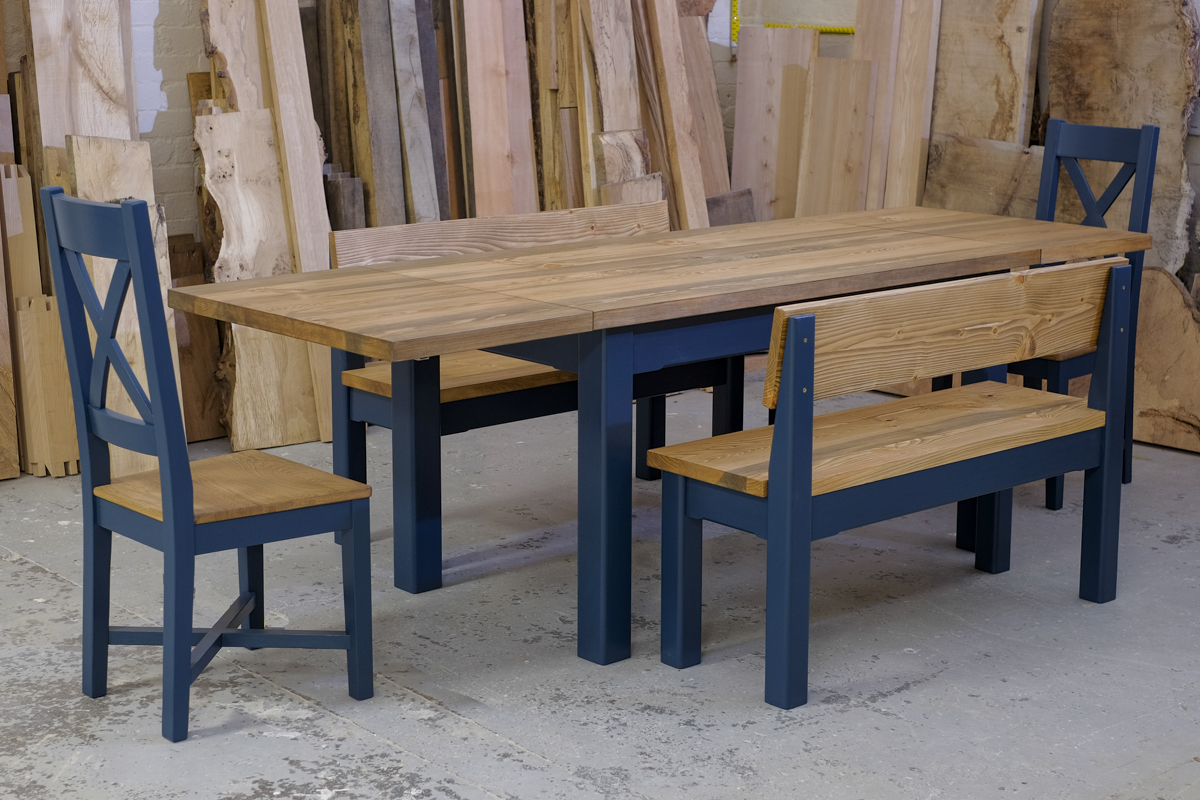 Linglie extending table with chairs and benches